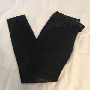 Dark gray moto jeggings